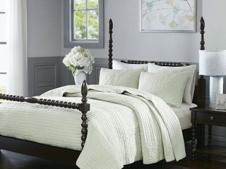 Madison Park Signature Serene King 3 Piece Cotton Quilt Coverlet Set