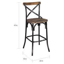 The Gray Barn Hidden Hill Antique Wood and Steel Barstool   Retail 116 99 wood finish