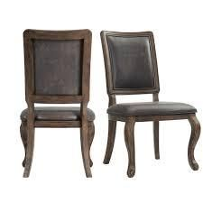 The Gray Barn Coach Ride Side Chair  Set of 2  Retail 329 49 walnut