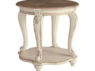 Signature Design by Ashley Realyn White Brown Wood End Table  Retail 209 99