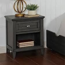 Furniture of America Wese Transitional Grey Solid Wood Nightstand $186.99