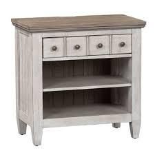 Heartland White 1 drawer Nightstand with Charging Station  Retail 453 99 antique white