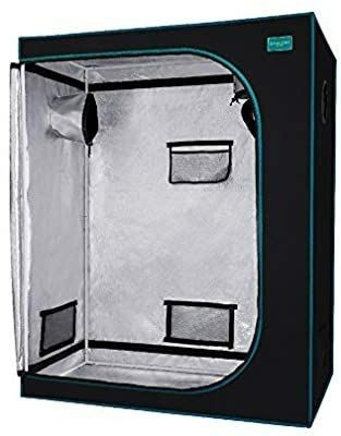 OpulENT SYSTEMS Waterproof Mylar Reflective Hydroponic Grow Tent Dark Room with Observation Window  Removable Soil Tray and Tool Bag for Indoor Plant Growing
