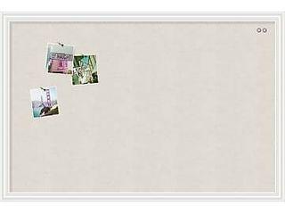 U Brands linen Bulletin Board  40 x 30 inches  White Frame