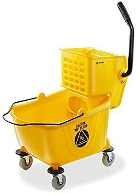 Dryser Commercial Mop Bucket with Side Pressure Squeegee  26 Quart  Yellow