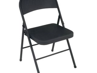 All Steel Folding Chair   Black  Set of 4    Cosco
