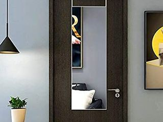 TinyTimes 12 A 48 Inch Door Mirror  Full length  Over Door  Wall Mirror  Slim Frame  Aluminum Alloy  for Bedroom  living Room  Entrance  Silver Color