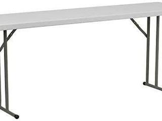 6ft White Granite Plastic Folding Training Table