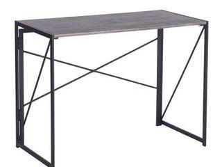 FurnitureR No Tools Foldable Computer Desk Harper Brown