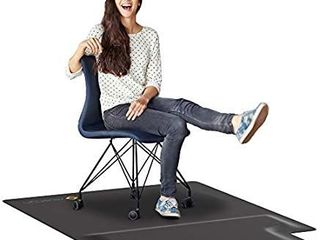 Office Chair Mat with Anti Fatigue Cushioned Foam   Chair Mat for Harwood Floor with Foot Rest Under Desk   2 in 1 Chairmat Standing Desk Anti Fatigue Comfort Mat