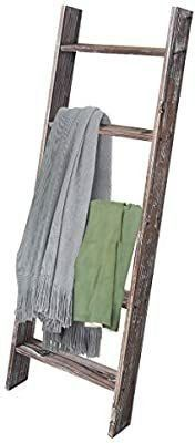 Rose Home Fashion RHF Stair Decorative Throw Blanket  Rustic Blanket  4ft Staircase  Rustic Wood Staircase  Storage ladder  4ft Storage ladder  Wood  Brown