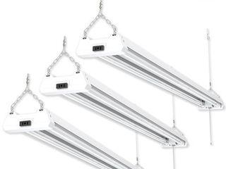 Sunco lighting 3 Pack 48  Clear lED Shop light Utility Fixture 40W 5000K  Daylight