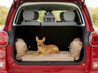 Big Barker Backseat Barker Orthopedic Pillow Dog Bed  Khaki  Medium