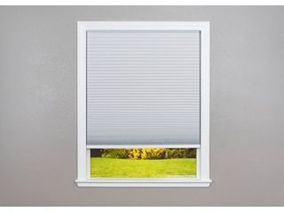 Easy lift Trim at Home Cordless Cellular Blackout Fabric Shade White  48 in x 64 in   Fits windows 31  48