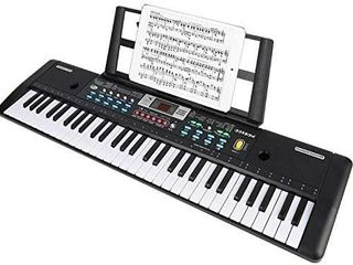 WOSTOO Keyboard Piano  61 Key Portable Keyboard with Built  In Speaker  Microphone  Piano Stand  Power Supply Teaching Toy Gift for Kids Boy Girl   MISSING CORD AND MICROPHONE