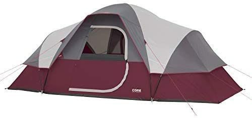 Core 9 Person Extended Dome Tent   MISSING ACTUAl TENT PART ONlY THE COVER  POlES  AND STAKES