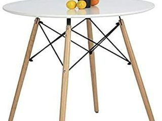 Kitchen Dining Table Round Coffee Table white Collection Modern leisure Wood Tea Table Office Conference Pedestal Desk