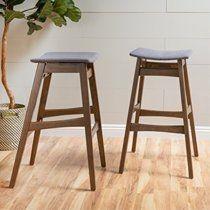 christopher knight home 298979 emmaline fabric walnut finish bar stool  set of 2  dark grey   MIGHT BE MISSING SOME HARDWARE