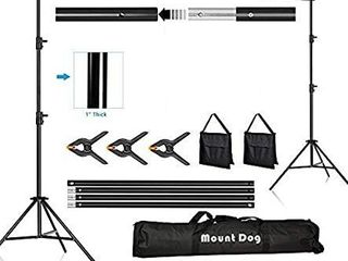 MOUNTDOG Backdrop Support Stand 10x6 5ft Adjustable Photography Studio Background Support System Kit with Carrying Bag for Photo Video Shooting   JUST FRAME POlES AND CARRYING BAG MISSING EVERYTHING ElSE