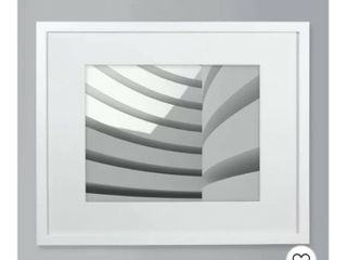 11  x 14  Matted Wood Frame White   Made By Design