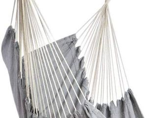 Hammock Chair  Hammock  Hanging Chair  Cotton Fabric  for Comfort and Durability  Perfect for Indoor   Outdoor