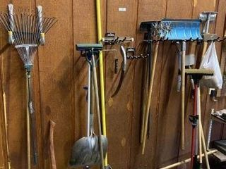 Lot of Long-Handled Garden Tools