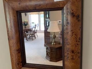Small Maple Framed Mirror