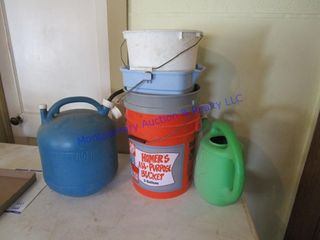 BUCKETS   WATER CANS