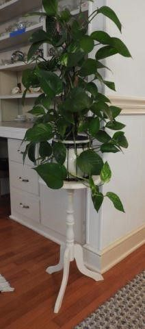 Lot #1948 - White plant stand pedestal and