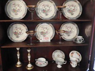 Lot #1929 -(6) Lenox ?Ming? Pattern oriental