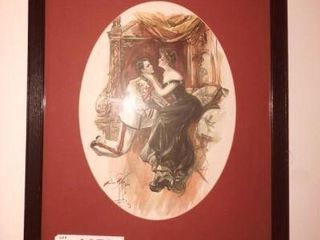 Lot #1957 - Framed Victorian era print by