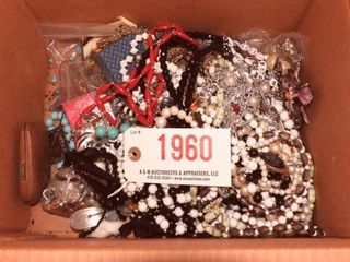 Lot #1960 - Entire box full of costume jewelry