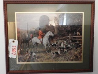 Lot #1967 - Pair of framed foxhunt prints