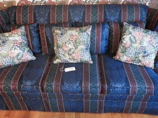 Lot #1936 - Floral upholstered three cushion