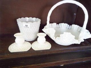 Milk Glass white glassware