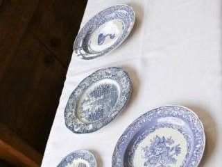 5 Ea Blue and White plates
