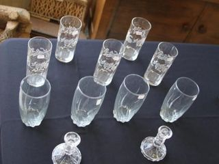 Glasses and Candle Sticks