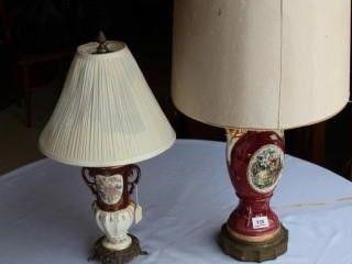 2 Ea Antique lamps