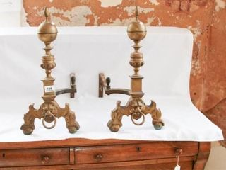 Brass Footed Andirons