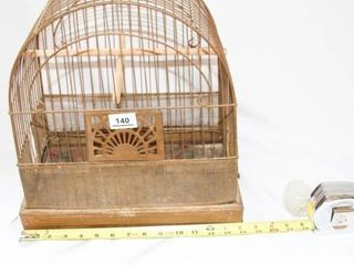 Antique Bird Cage with Glass feeder water