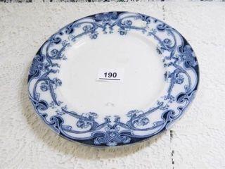 Flow Blue Plate  9  diam