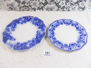 Flow Blue Plates   2  63 4  diam