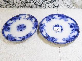 Flow Blue Plates   2  8  diam