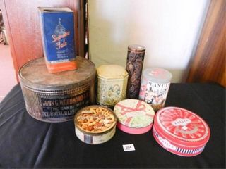 Collectible Tins  Assorted  8