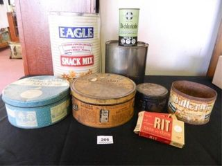 Collectible Tins  Rit 2 pkgs   9  Items