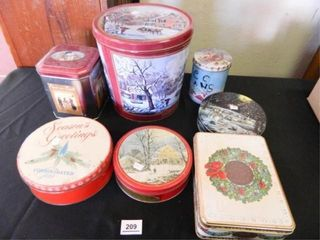 Christmas Tins   7  Assorted Styles