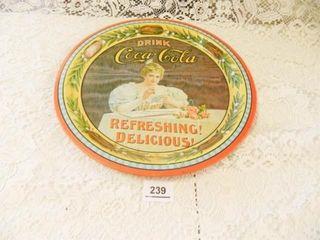 Coca Cola Tray  12  diam