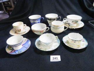 Tea Cups w Saucers  Assorted