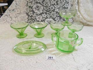 Depression Glass   7  Pieces