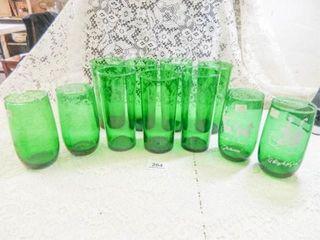 Forest Green Glassware   11